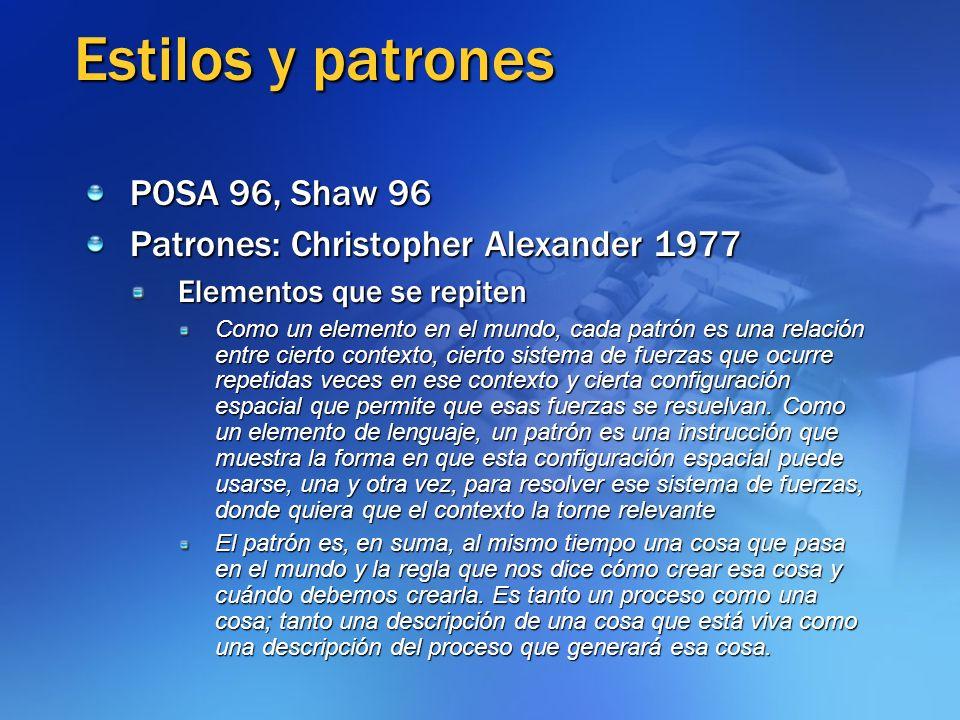 Estilos y patrones POSA 96, Shaw 96