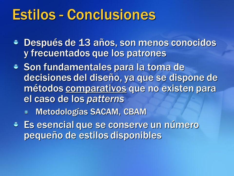 Estilos - Conclusiones