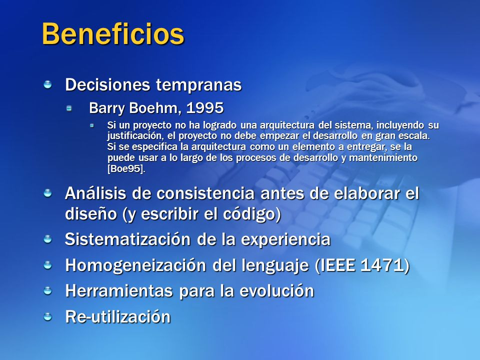 Beneficios Decisiones tempranas