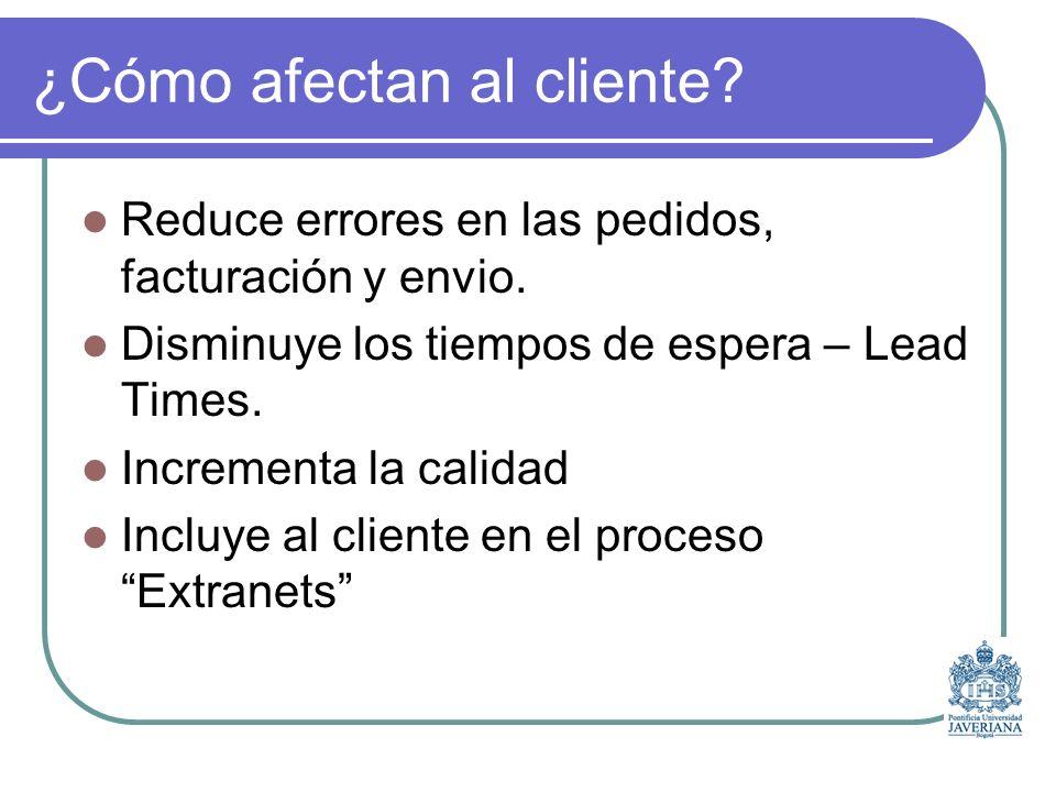 ¿Cómo afectan al cliente