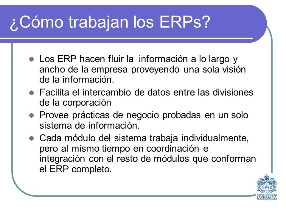 ¿Cómo trabajan los ERPs