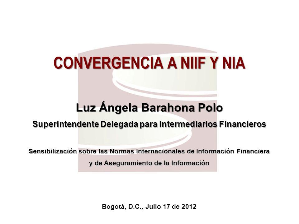 CONVERGENCIA A NIIF Y NIA
