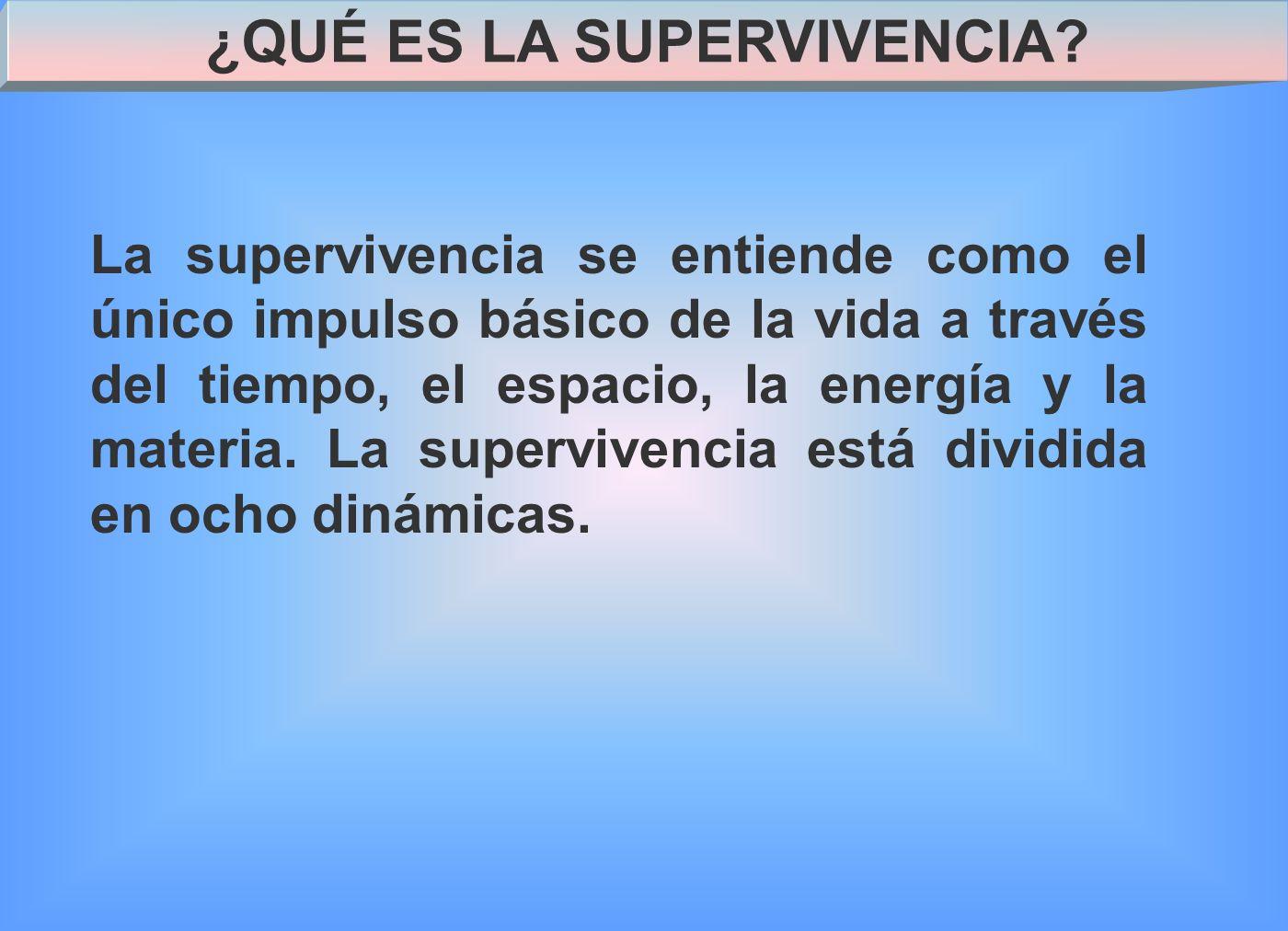 ¿QUÉ ES LA SUPERVIVENCIA