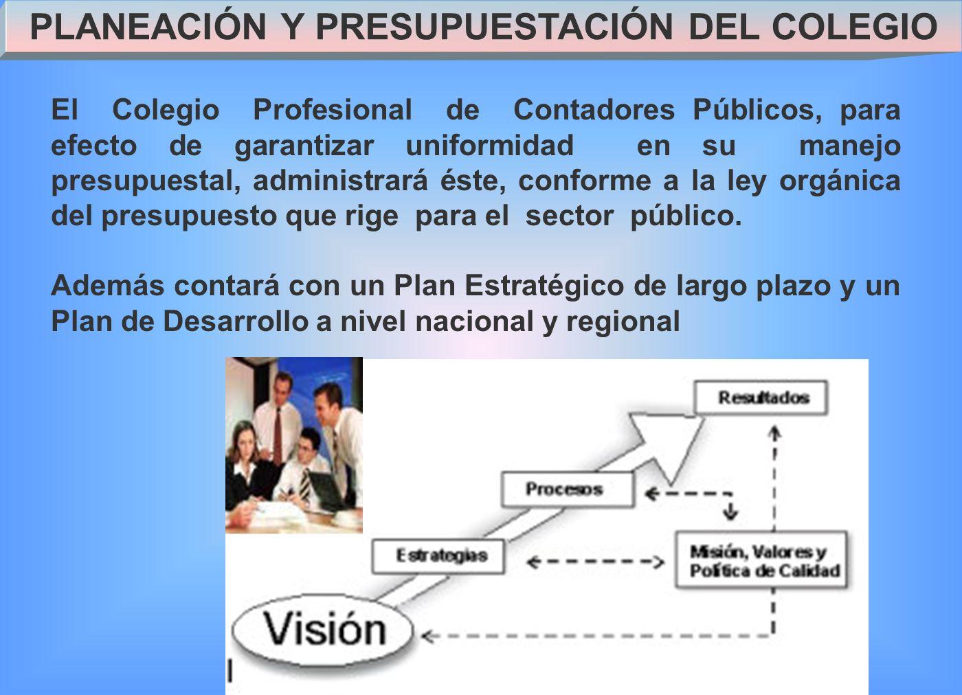 PLANEACIÓN Y PRESUPUESTACIÓN DEL COLEGIO
