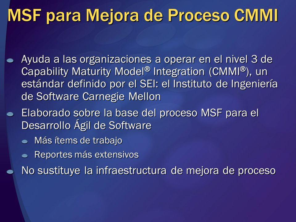 MSF para Mejora de Proceso CMMI