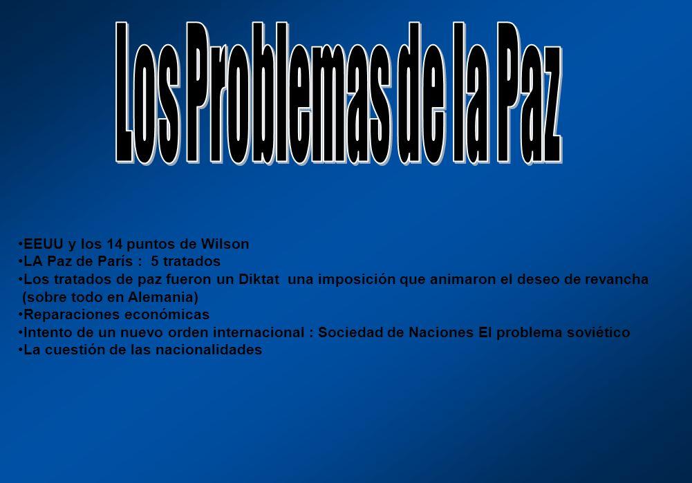 Los Problemas de la Paz EEUU y los 14 puntos de Wilson