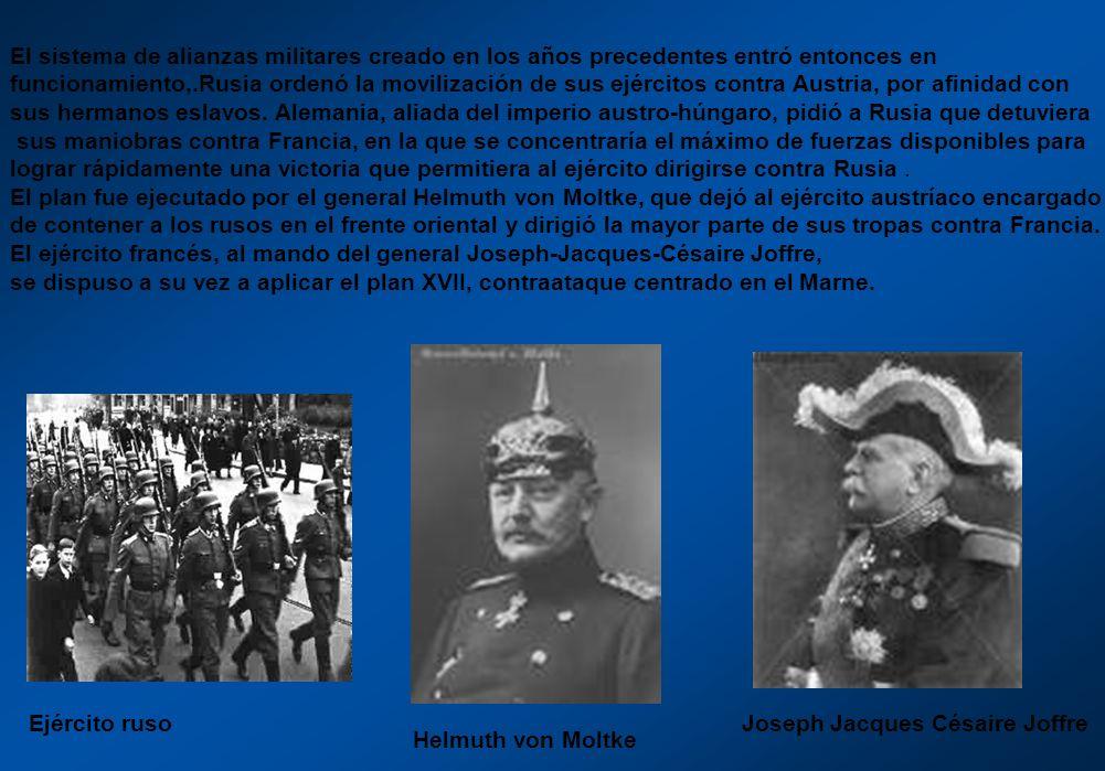 El sistema de alianzas militares creado en los años precedentes entró entonces en