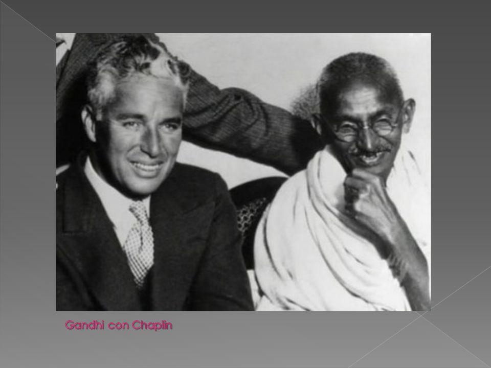 Gandhi con Chaplin