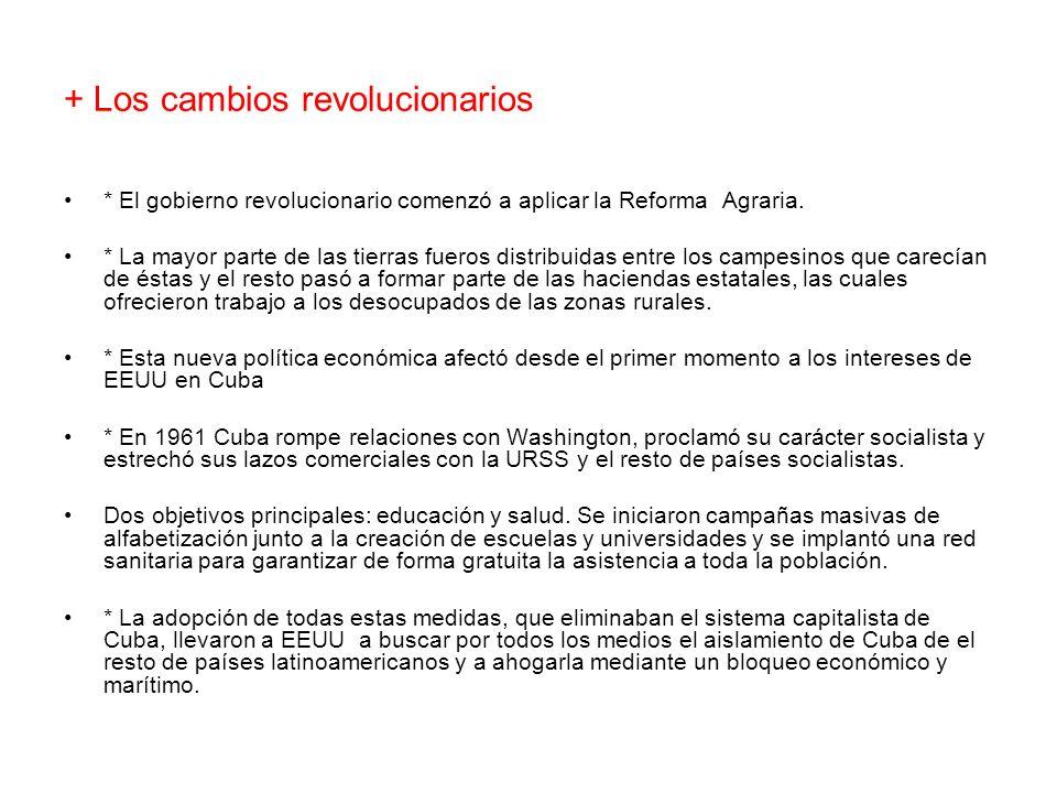 + Los cambios revolucionarios