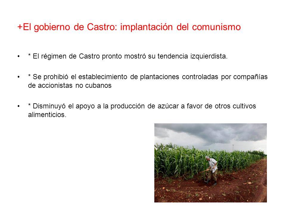 +El gobierno de Castro: implantación del comunismo
