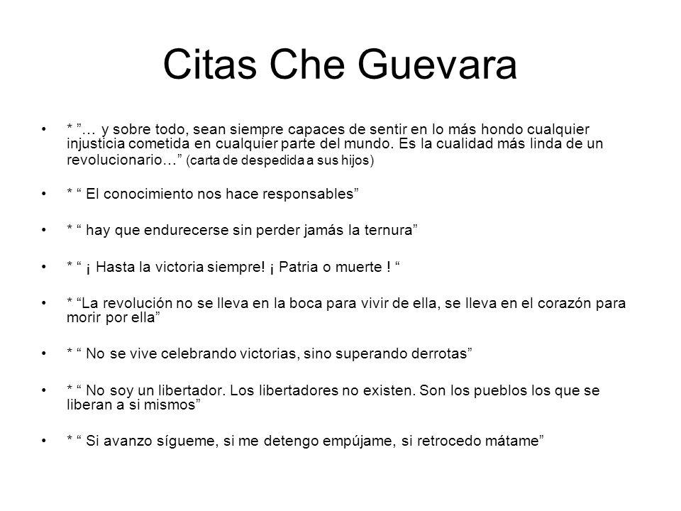 Citas Che Guevara