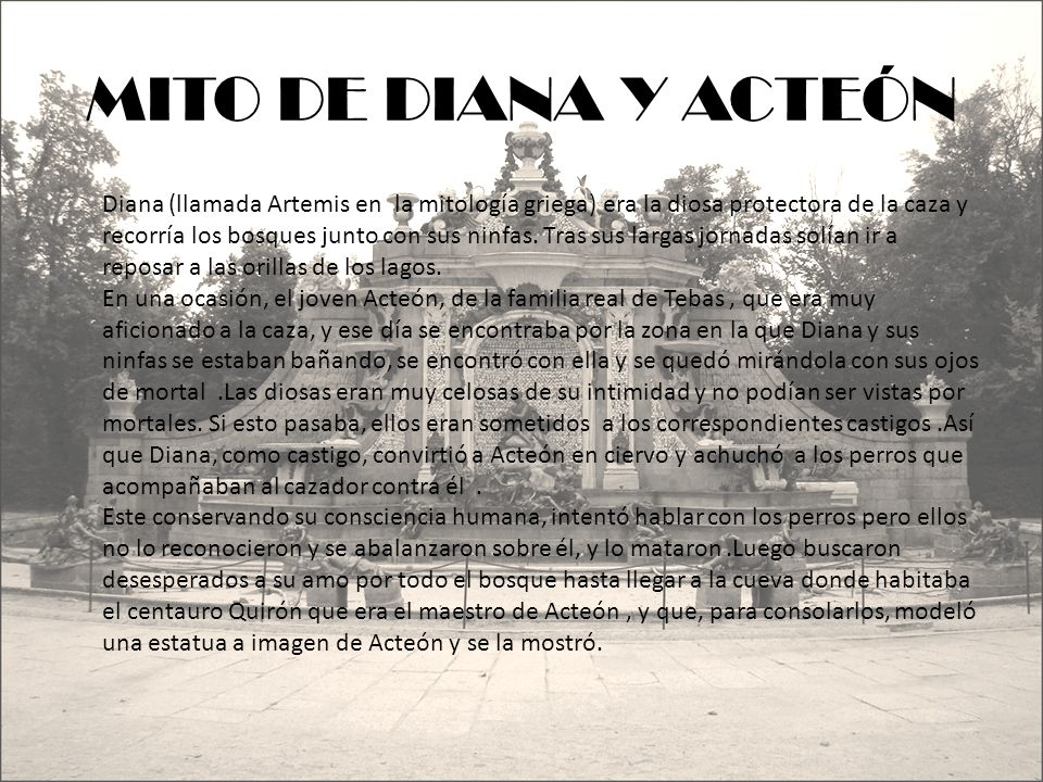 MITO DE DIANA Y ACTEÓN