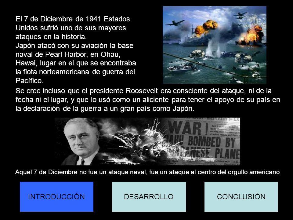 la declaración de la guerra a un gran país como Japón.