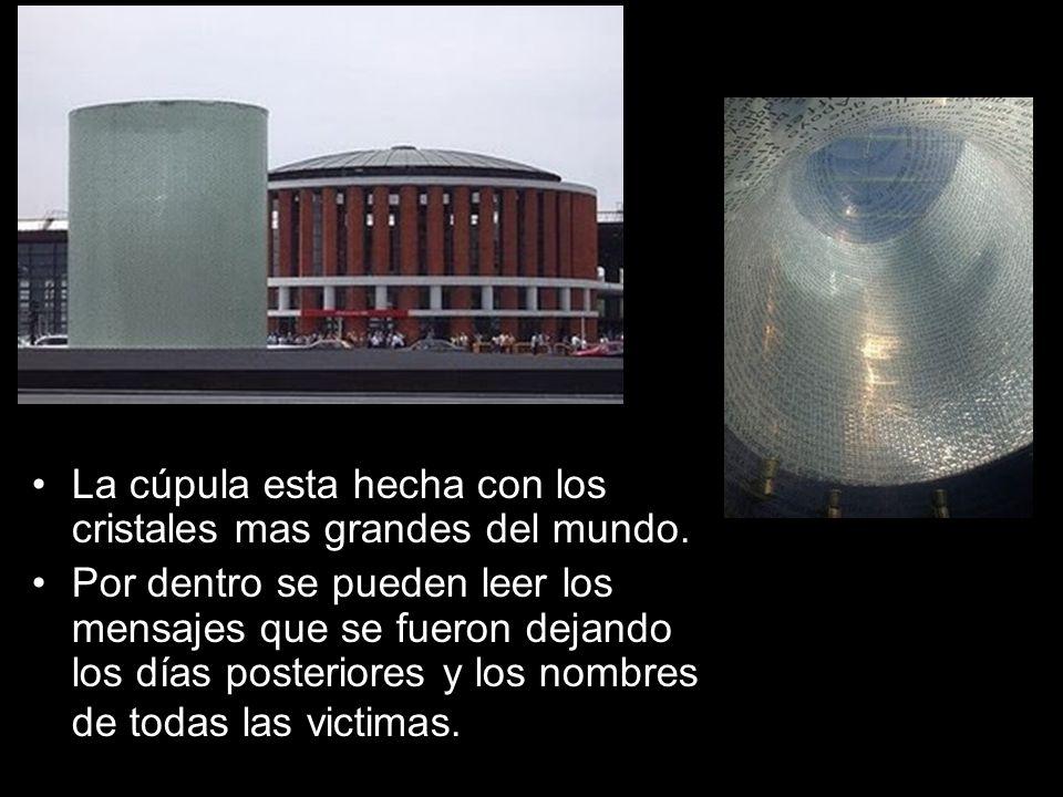 La cúpula esta hecha con los cristales mas grandes del mundo.