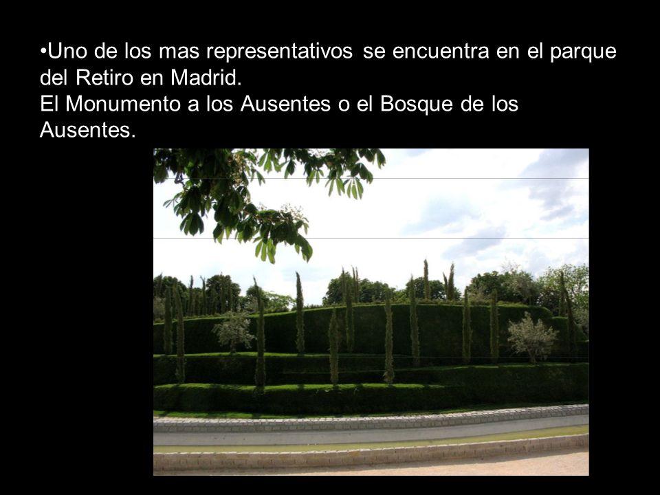 Uno de los mas representativos se encuentra en el parque del Retiro en Madrid.