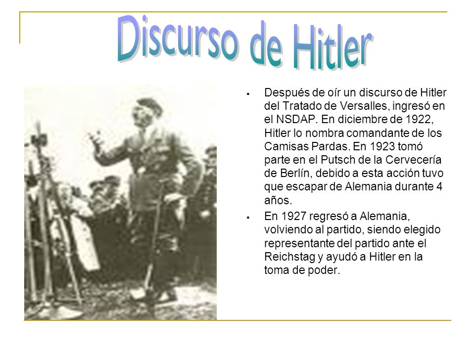 Discurso de Hitler