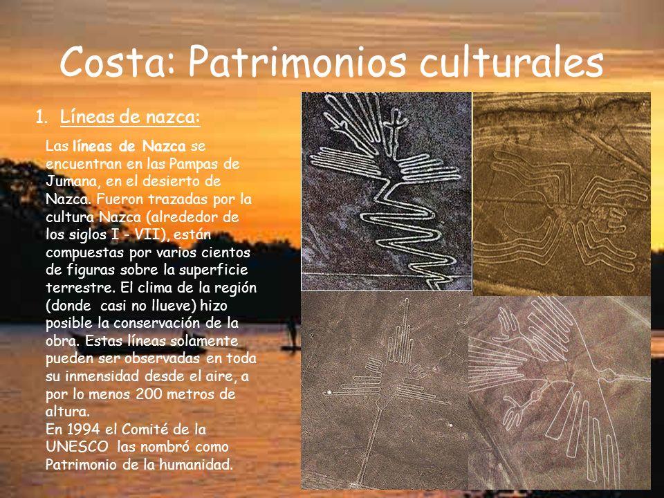 Costa: Patrimonios culturales