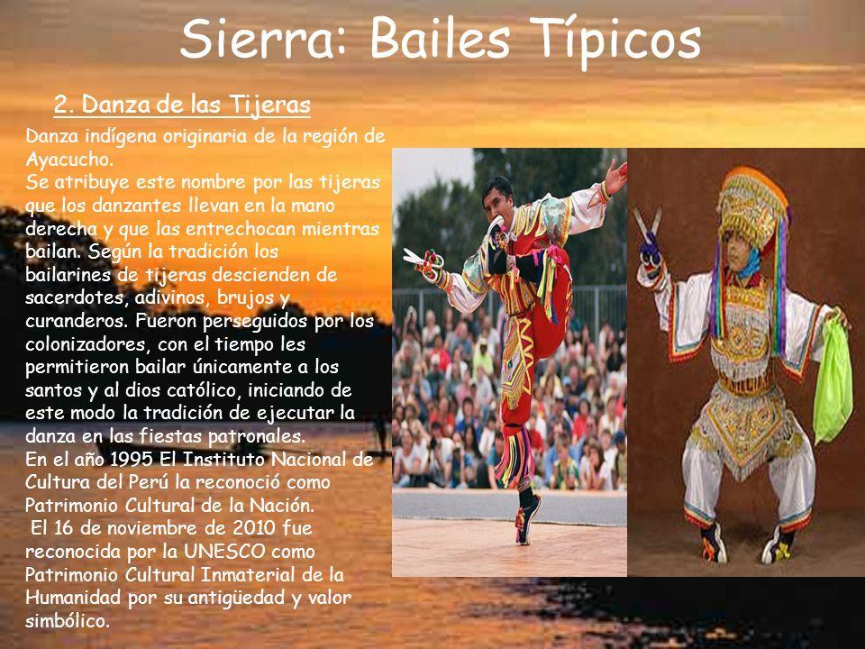 Sierra: Bailes Típicos