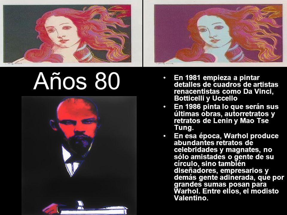 Años 80En 1981 empieza a pintar detalles de cuadros de artistas renacentistas como Da Vinci, Botticelli y Uccello.