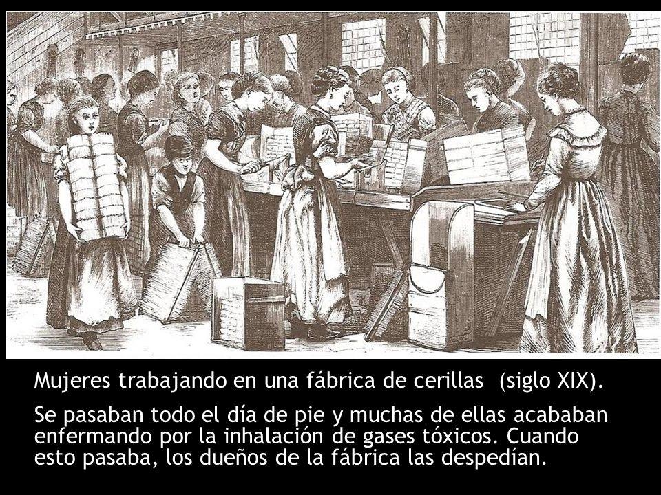 Mujeres trabajando en una fábrica de cerillas (siglo XIX).