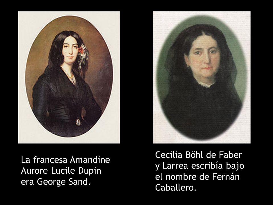 Cecilia Böhl de Faber y Larrea escribía bajo el nombre de Fernán Caballero.