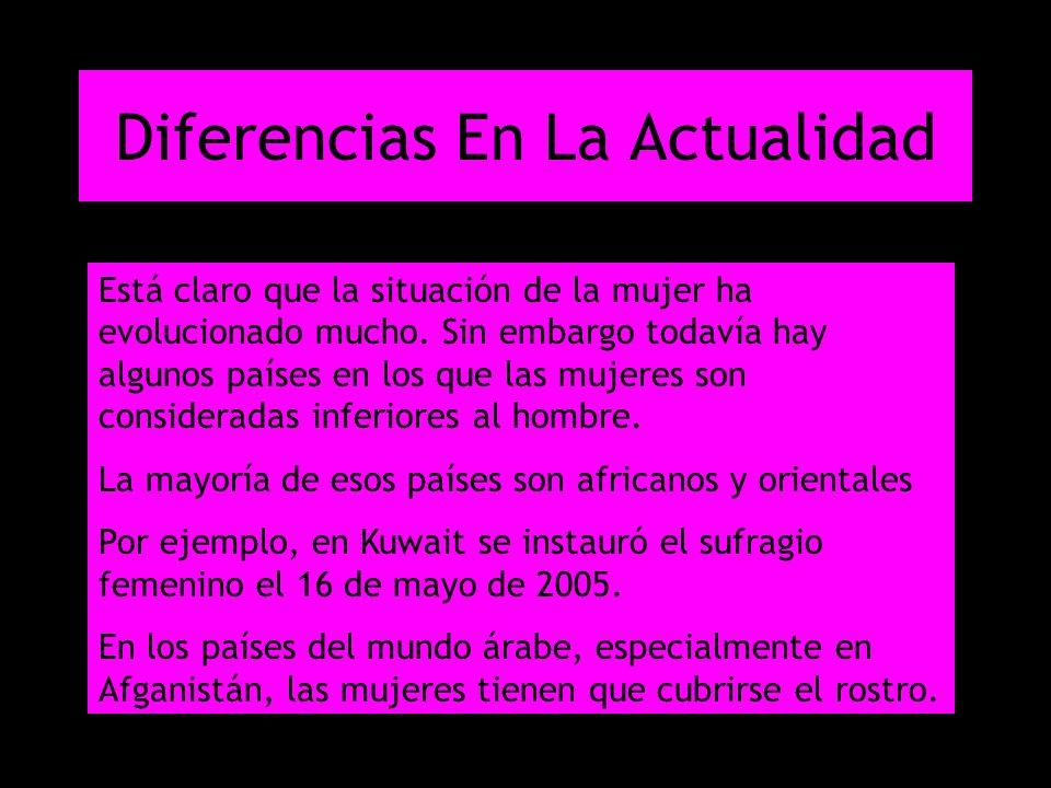 Diferencias En La Actualidad