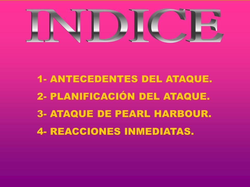 INDICE 1- ANTECEDENTES DEL ATAQUE. 2- PLANIFICACIÓN DEL ATAQUE.