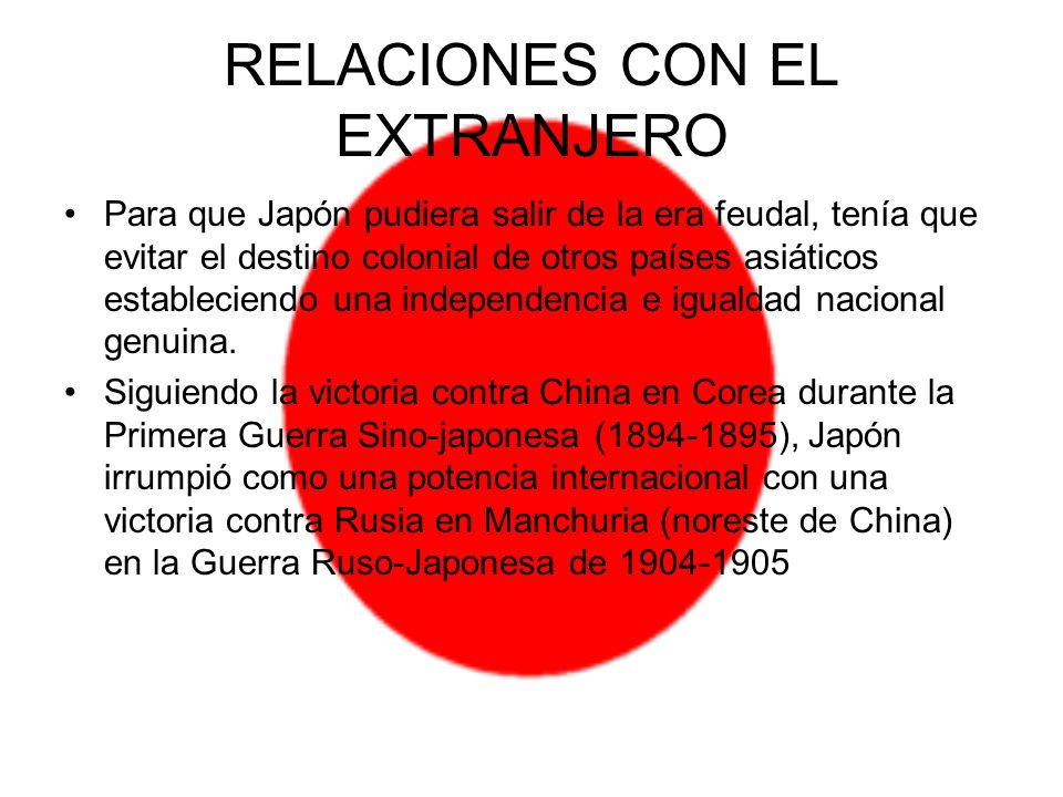 RELACIONES CON EL EXTRANJERO