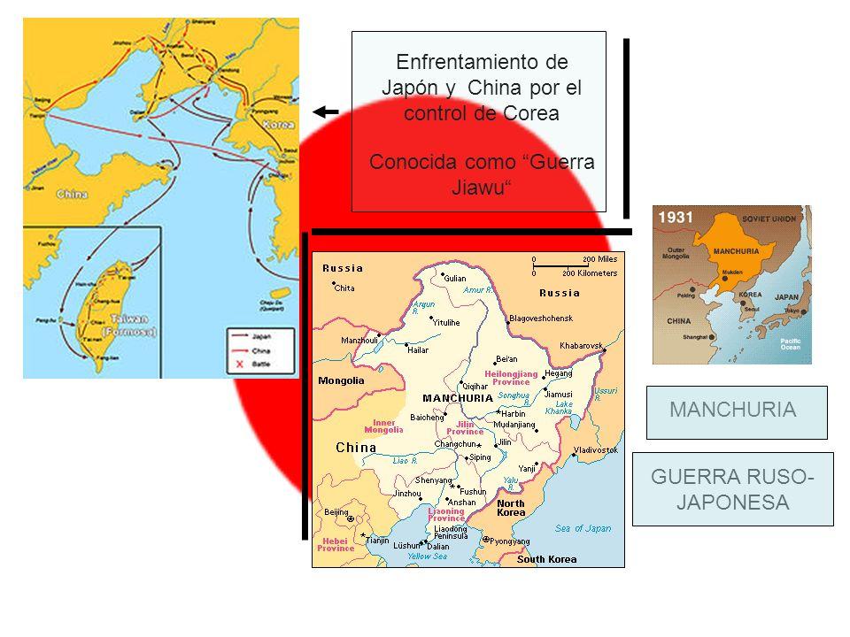 Enfrentamiento de Japón y China por el control de Corea