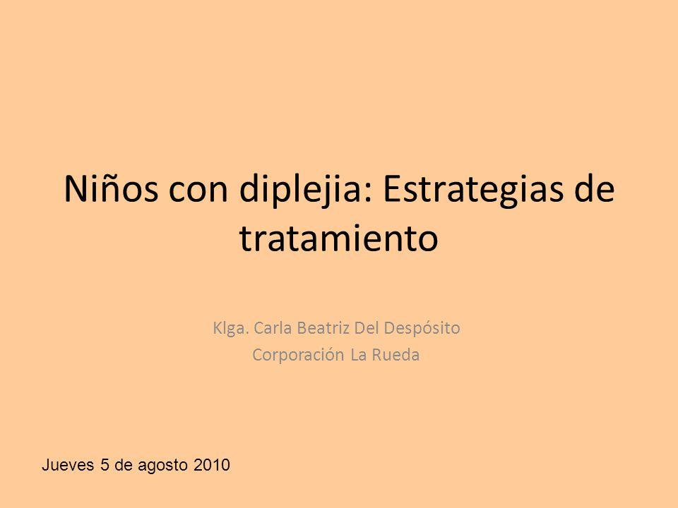 Niños con diplejia: Estrategias de tratamiento