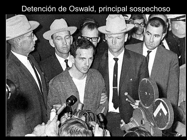 Detención de Oswald, principal sospechoso