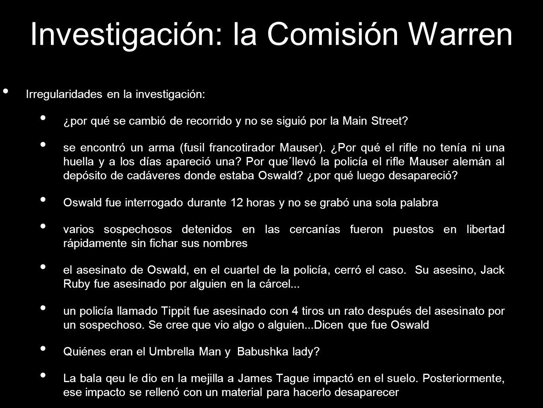 Investigación: la Comisión Warren