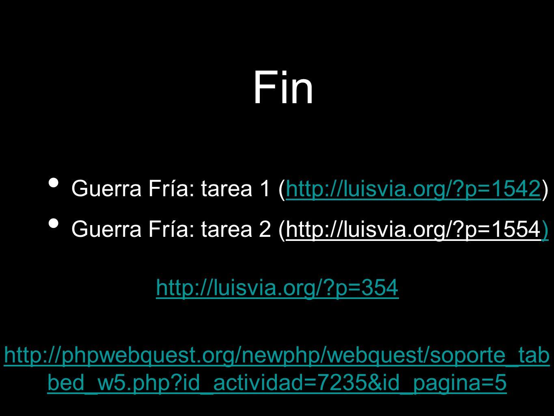 Fin Guerra Fría: tarea 1 (http://luisvia.org/ p=1542)