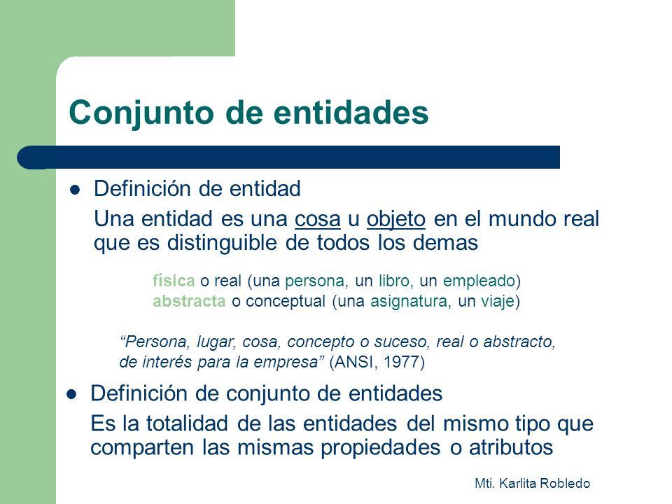 Conjunto de entidades Definición de entidad