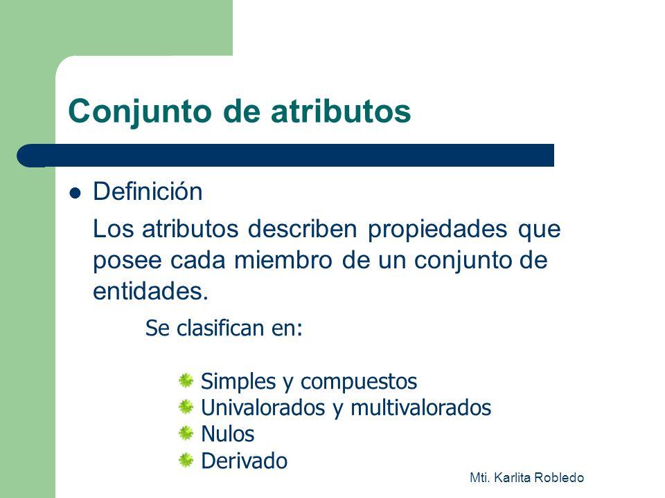 Conjunto de atributos Definición