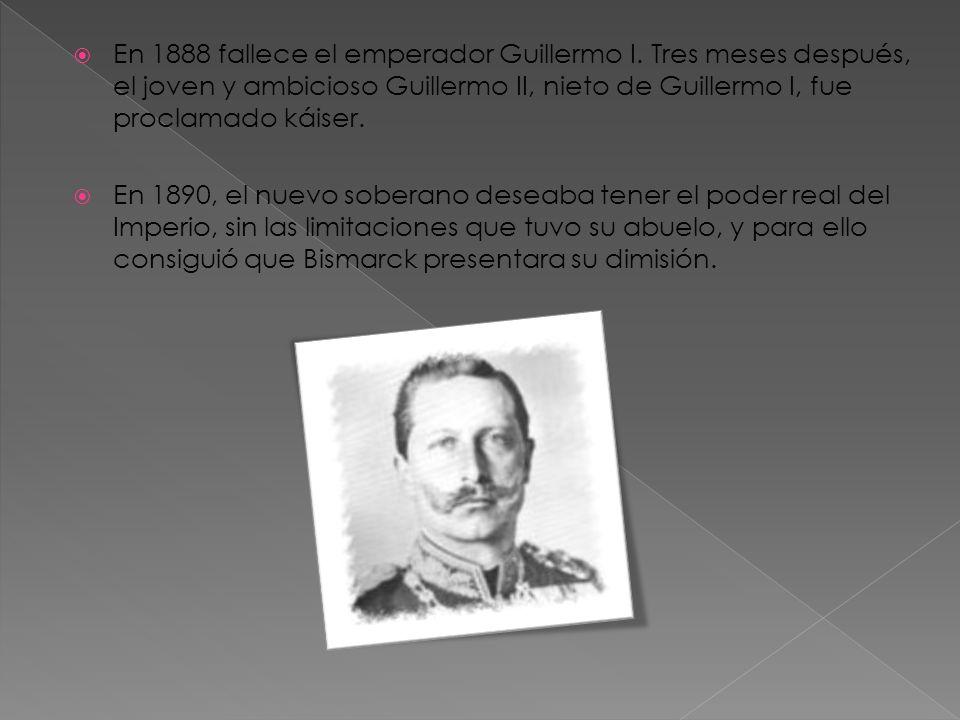 En 1888 fallece el emperador Guillermo I