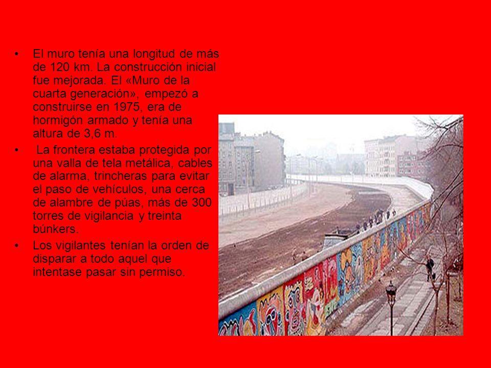 El muro tenía una longitud de más de 120 km