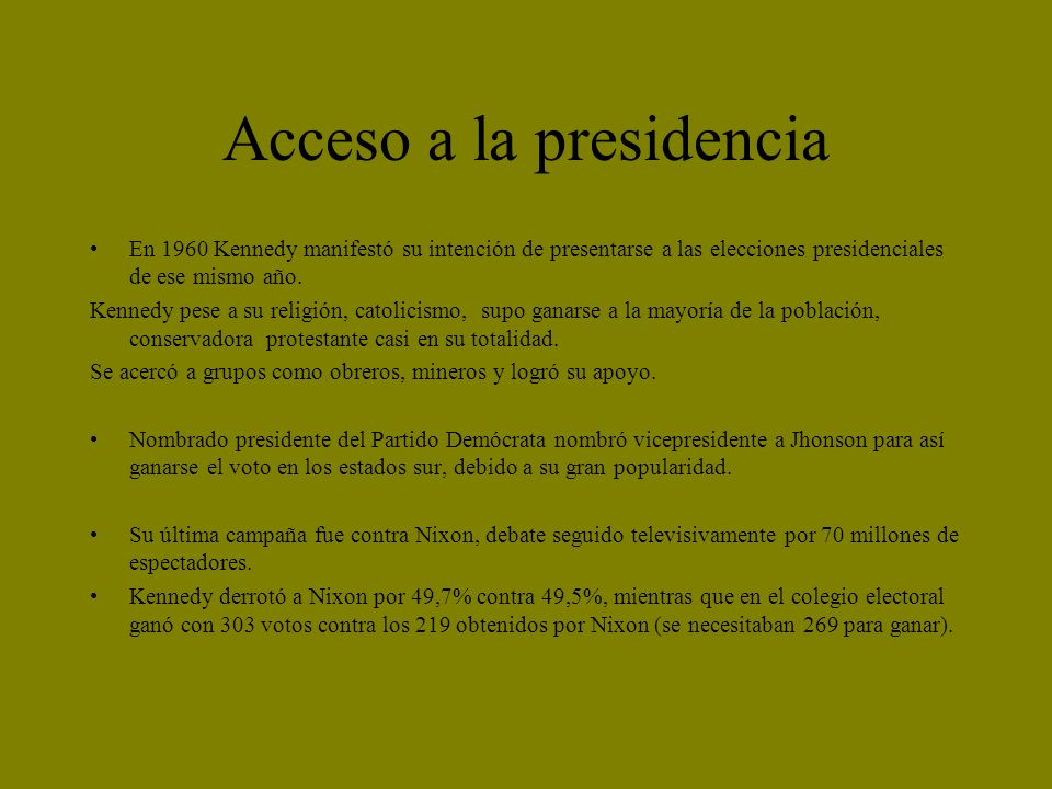 Acceso a la presidencia