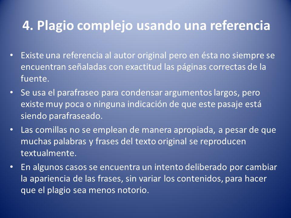 4. Plagio complejo usando una referencia