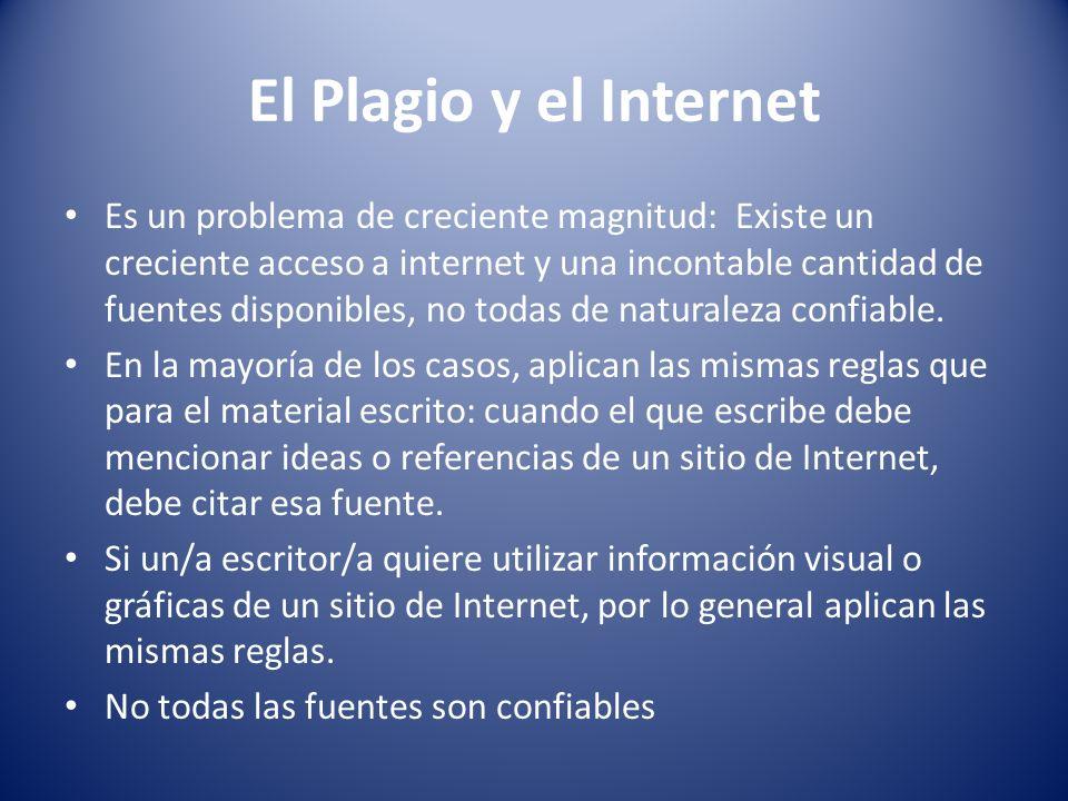 El Plagio y el Internet