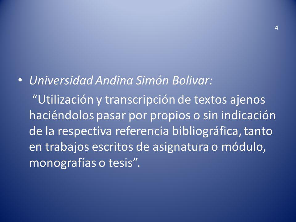 Universidad Andina Simón Bolivar:
