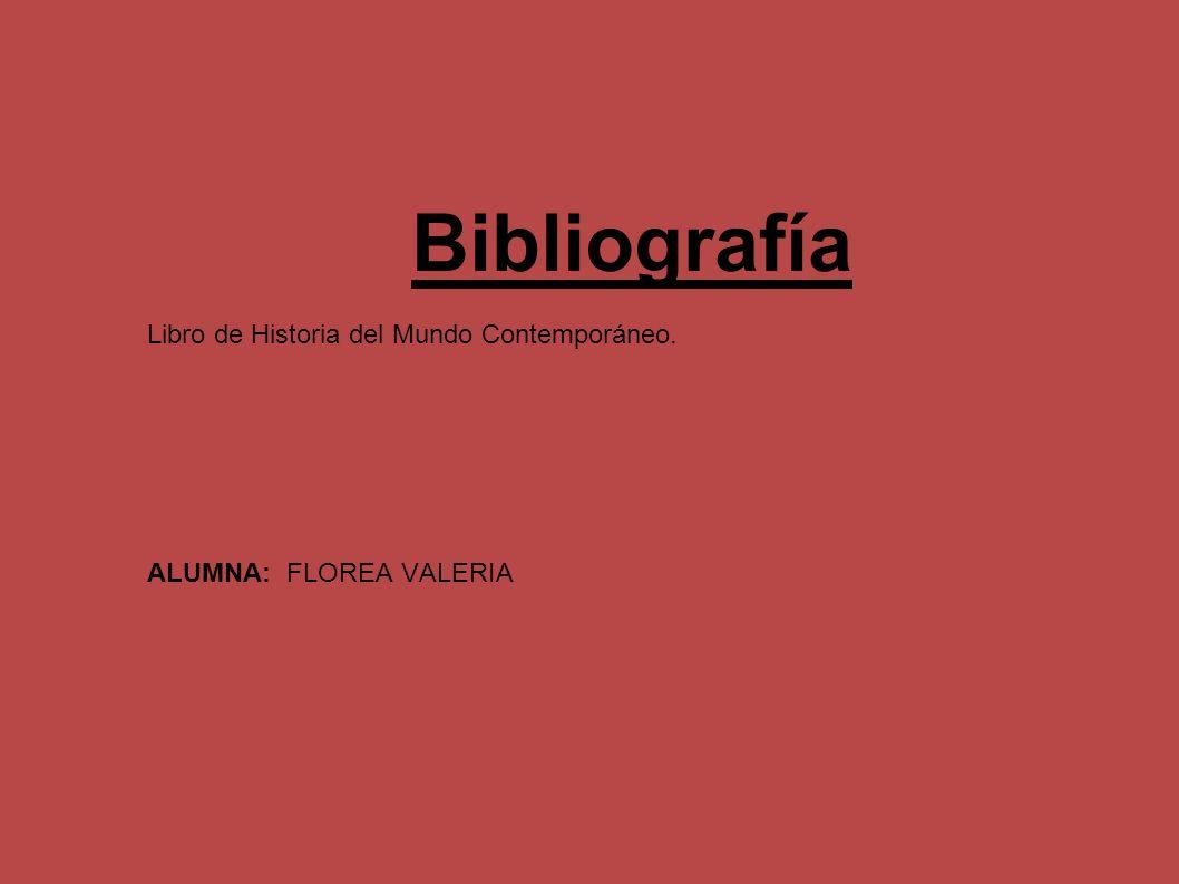 Bibliografía Libro de Historia del Mundo Contemporáneo