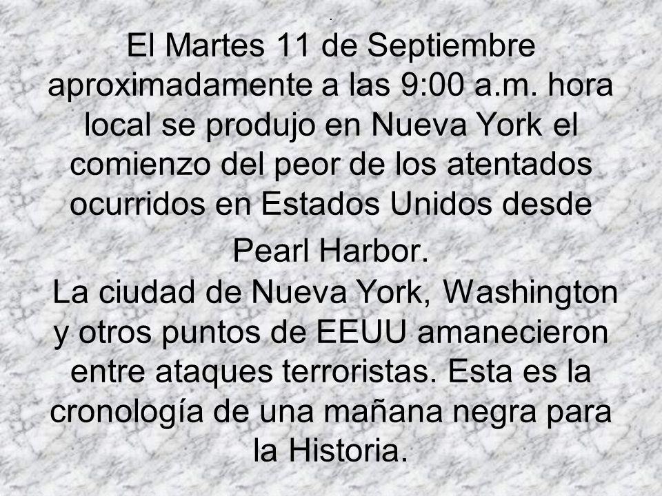 El Martes 11 de Septiembre aproximadamente a las 9:00 a. m
