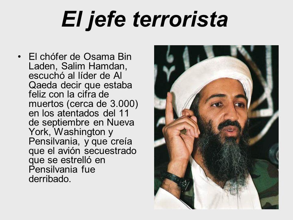 El jefe terrorista