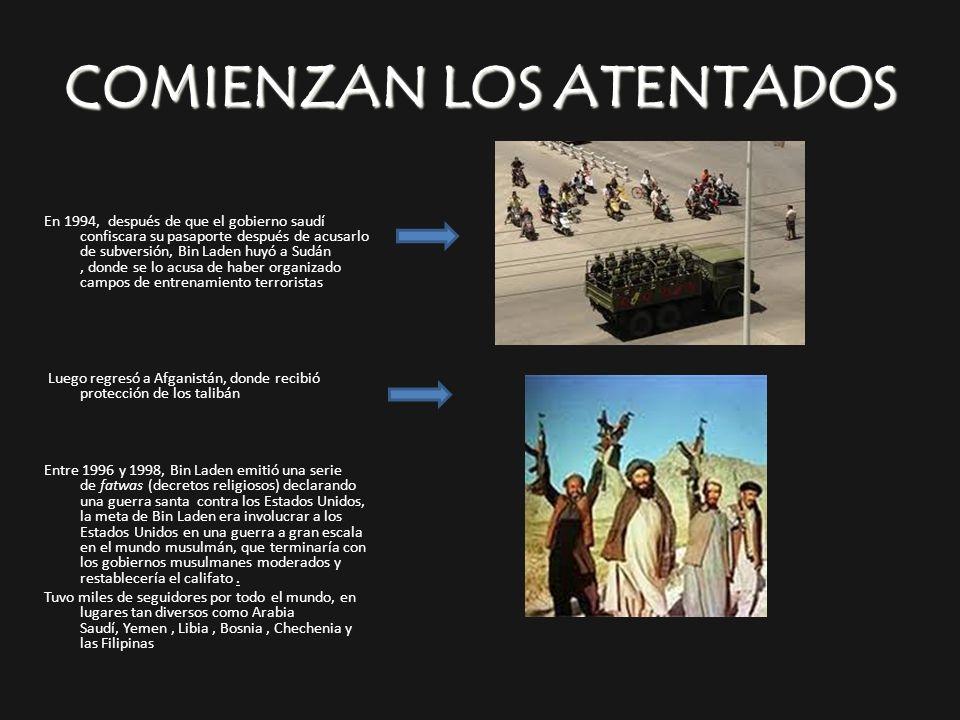 COMIENZAN LOS ATENTADOS