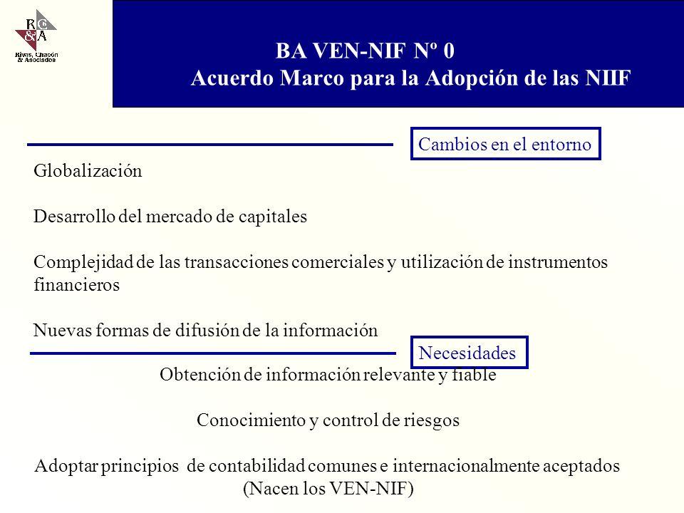 BA VEN-NIF Nº 0 Acuerdo Marco para la Adopción de las NIIF