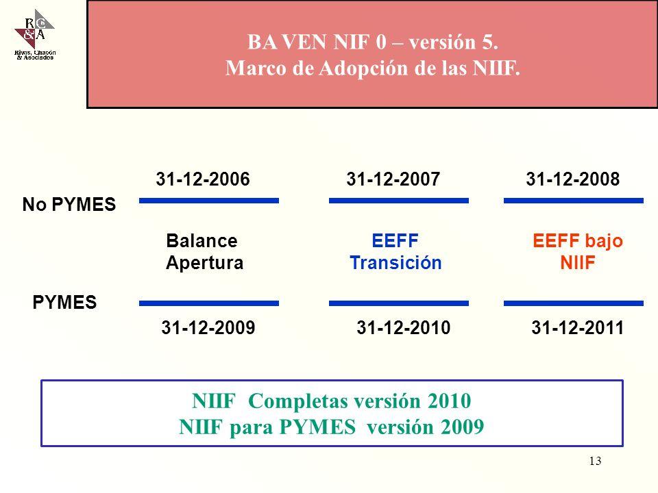 Marco de Adopción de las NIIF.
