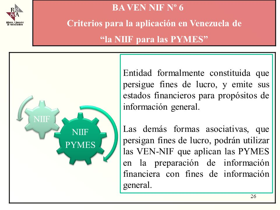 Criterios para la aplicación en Venezuela de la NIIF para las PYMES