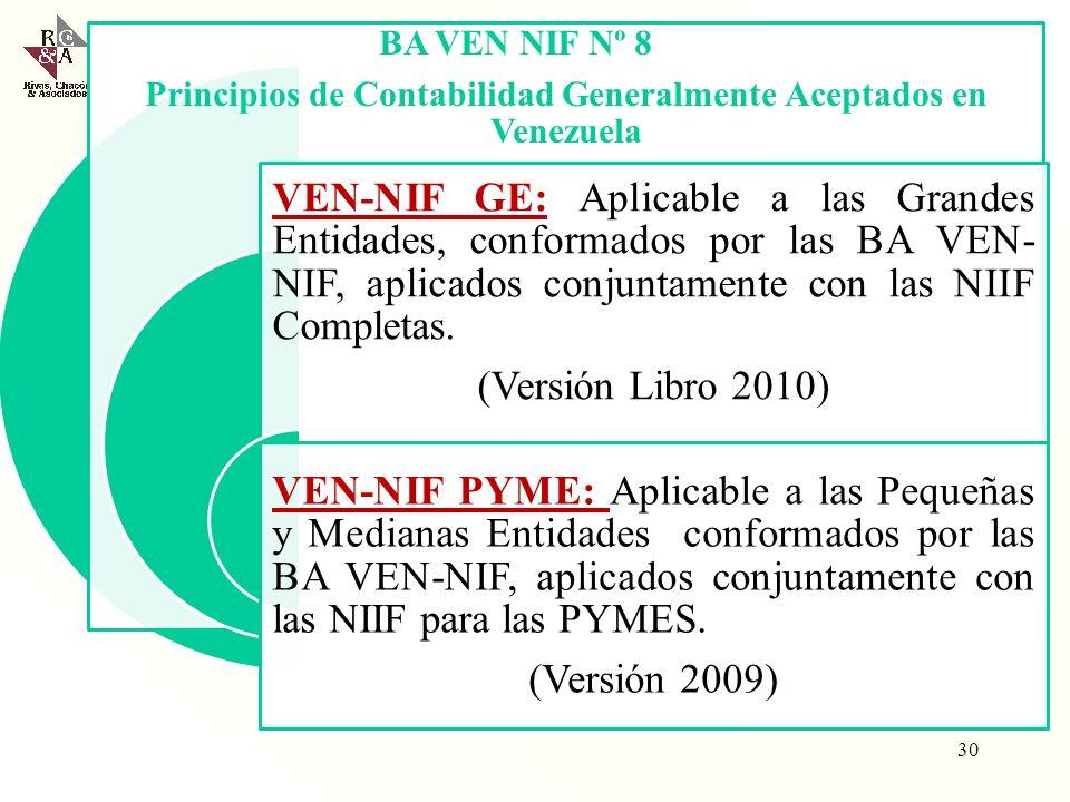 Principios de Contabilidad Generalmente Aceptados en Venezuela