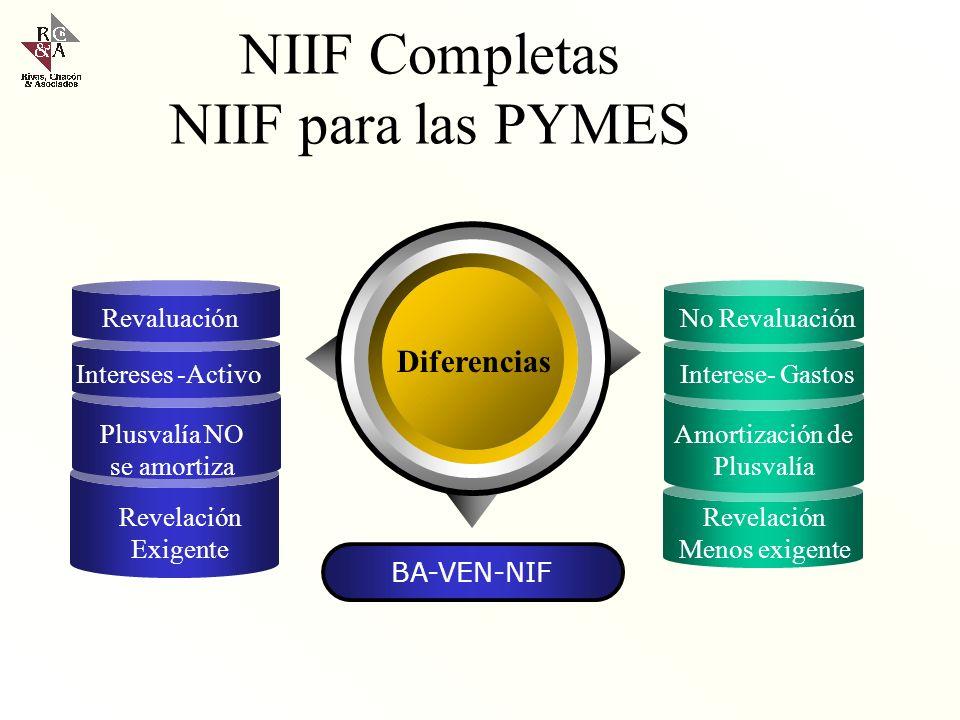 NIIF Completas NIIF para las PYMES